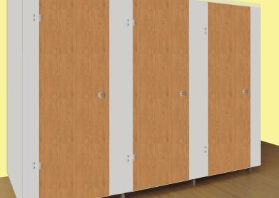 Epcot Cubicles Light Grey with Winchester Oak Doors
