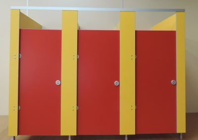 Red Nursery or Children's Cubicles by Epcot